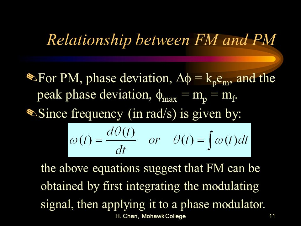 Relationship between FM and PM