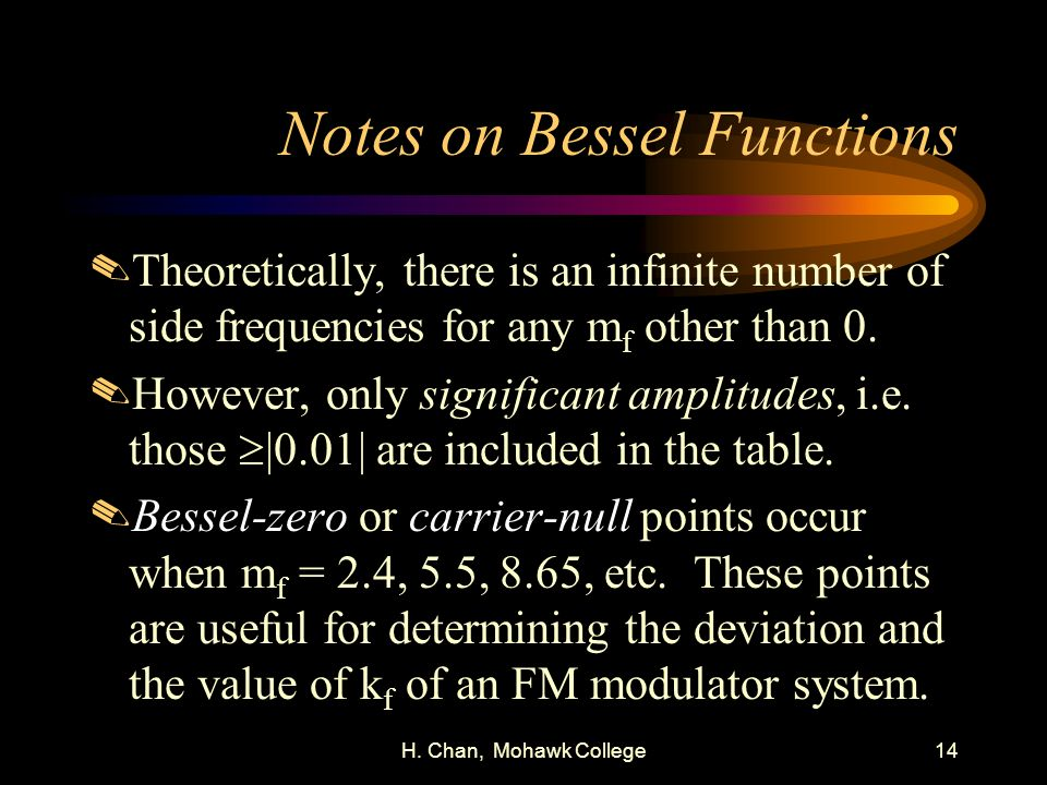 Notes on Bessel Functions
