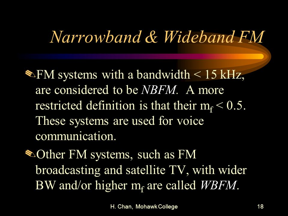Narrowband & Wideband FM