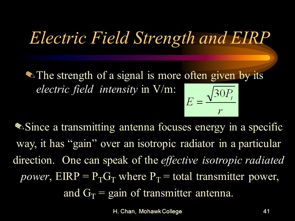 Electric Field Strength and EIRP