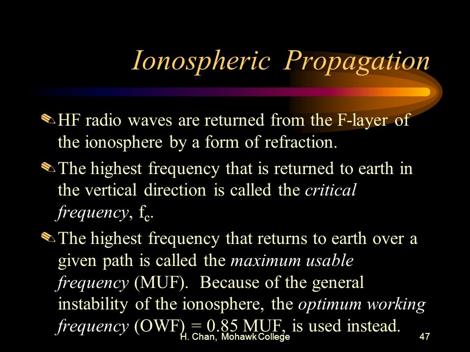 Ionospheric Propagation