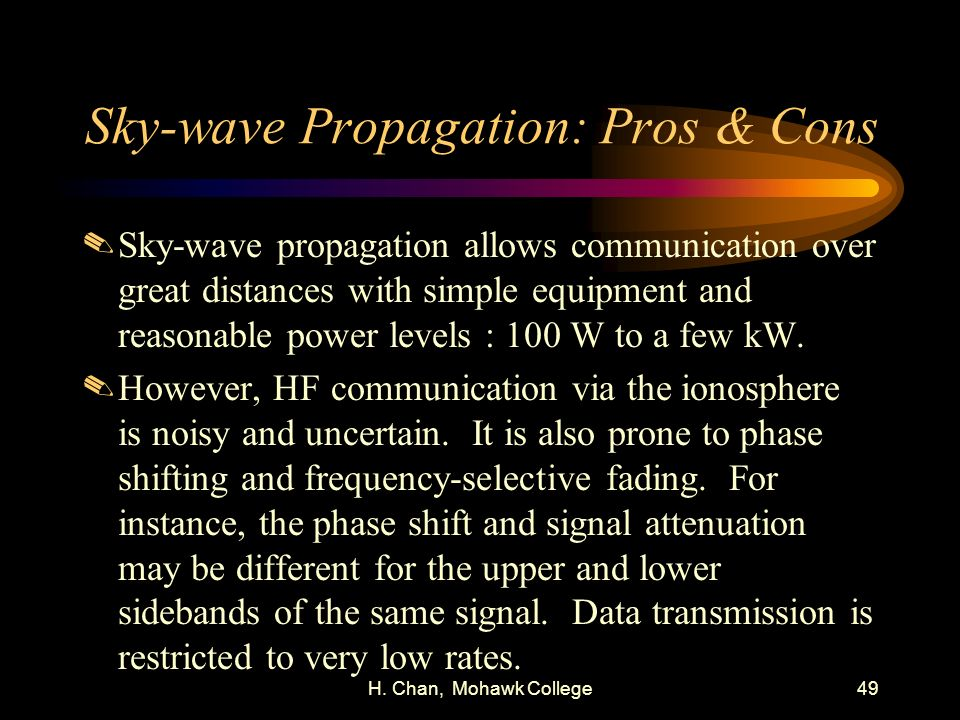 Sky-wave Propagation: Pros & Cons