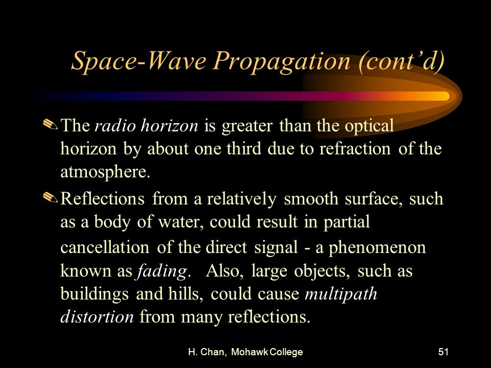 Space-Wave Propagation (cont'd)