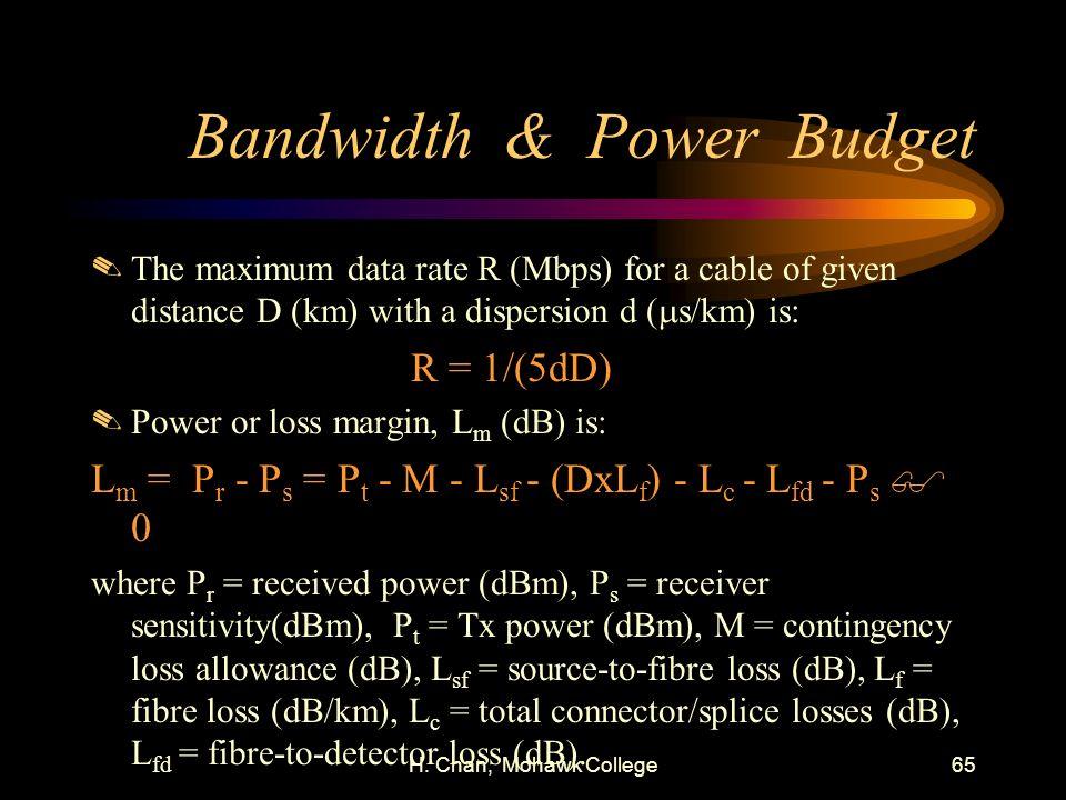 Bandwidth & Power Budget