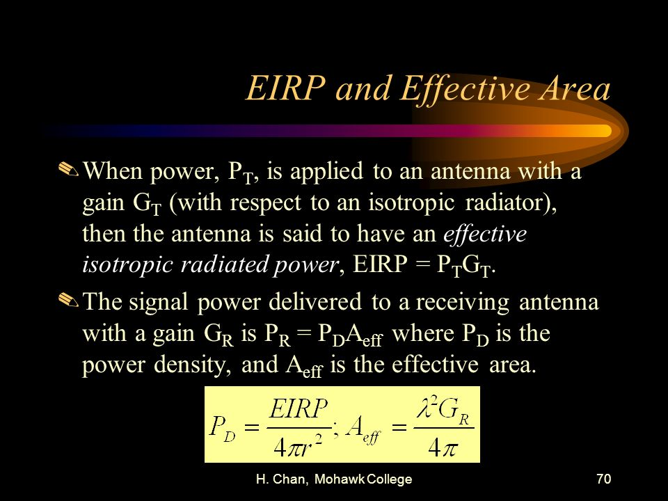 EIRP and Effective Area