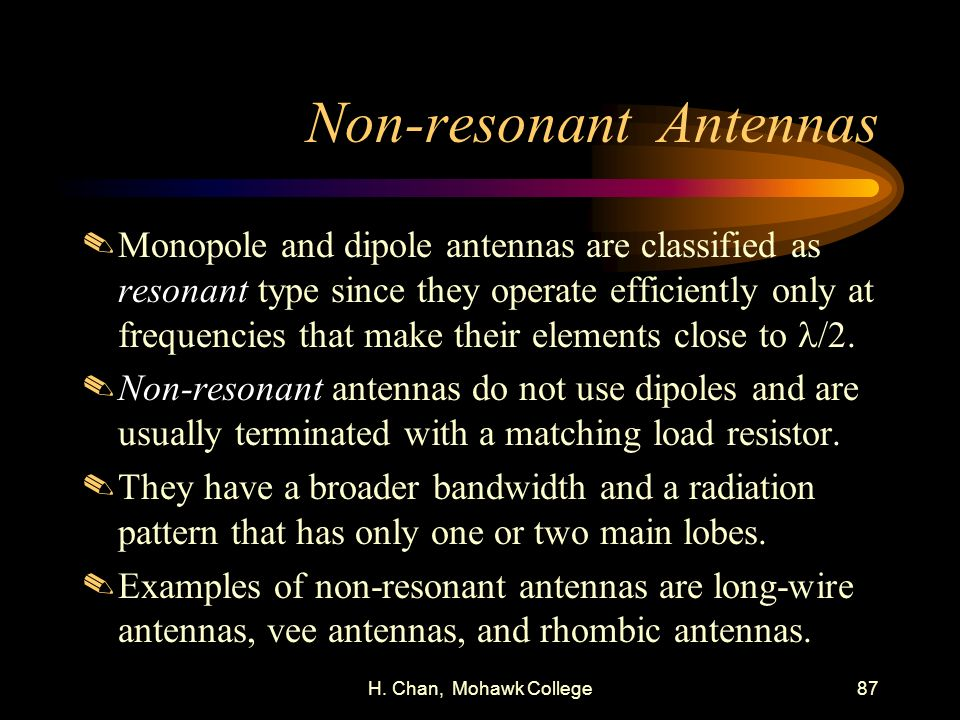 Non-resonant Antennas