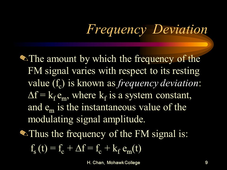 Frequency Deviation