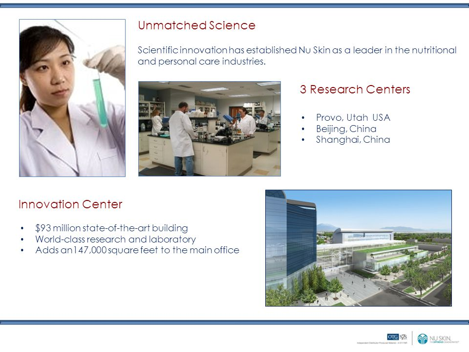 Unmatched Science 3 Research Centers Innovation Center