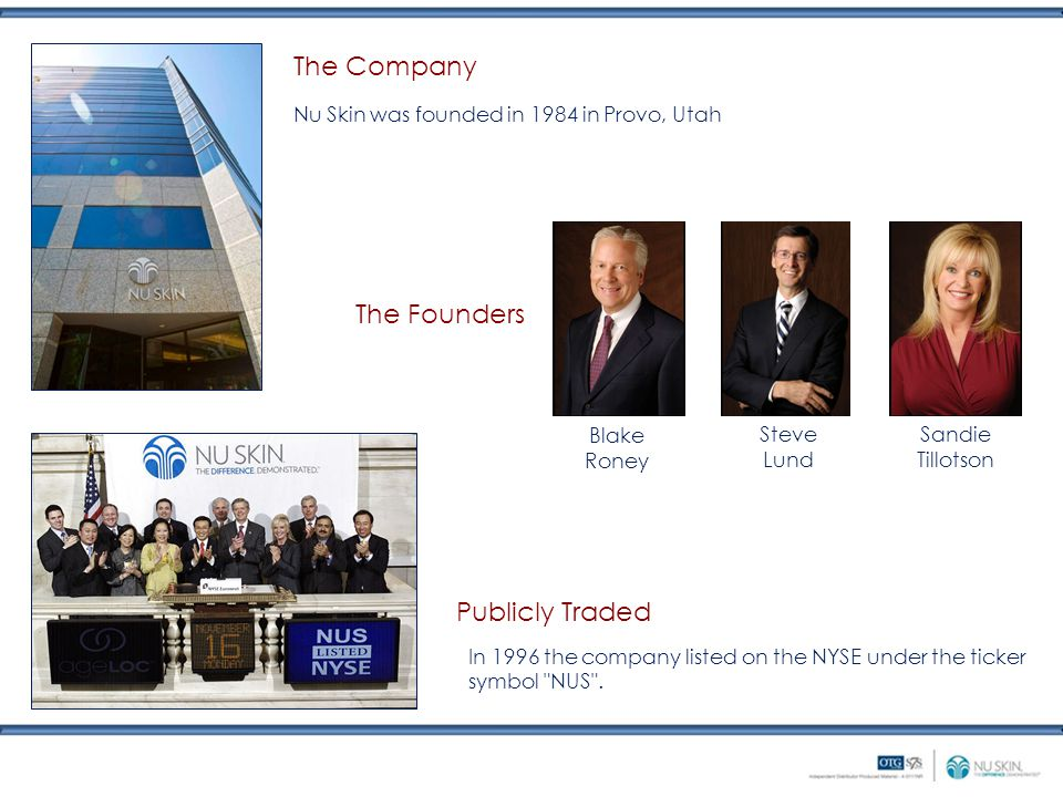 The Company The Founders Publicly Traded