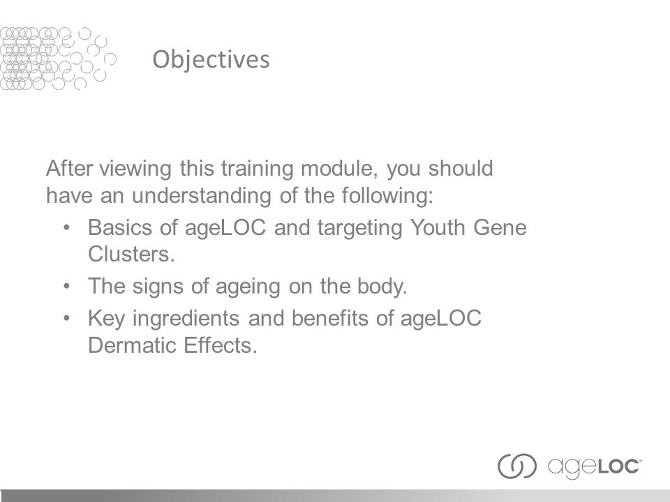 Objectives After viewing this training module, you should have an understanding of the following: