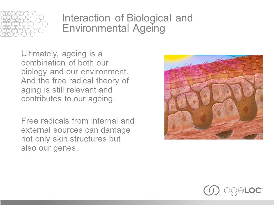 Interaction of Biological and Environmental Ageing