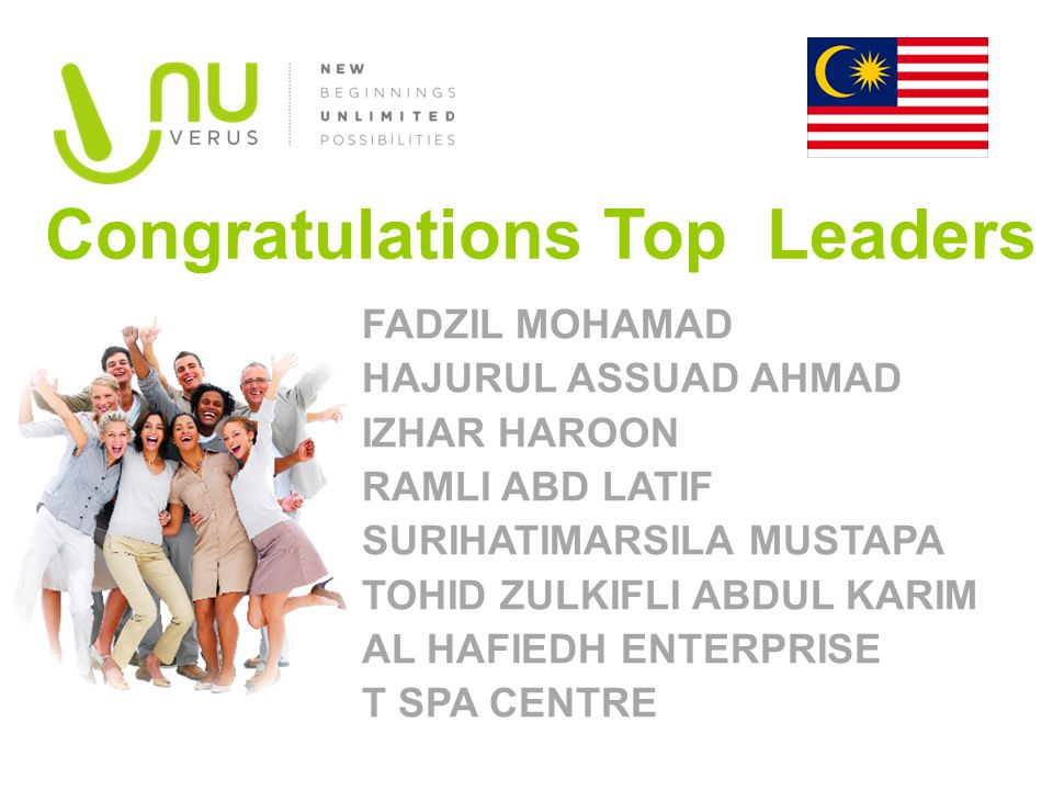 Congratulations Top Leaders
