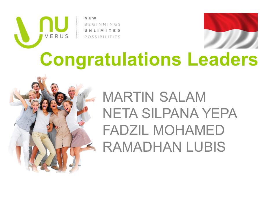 Congratulations Leaders