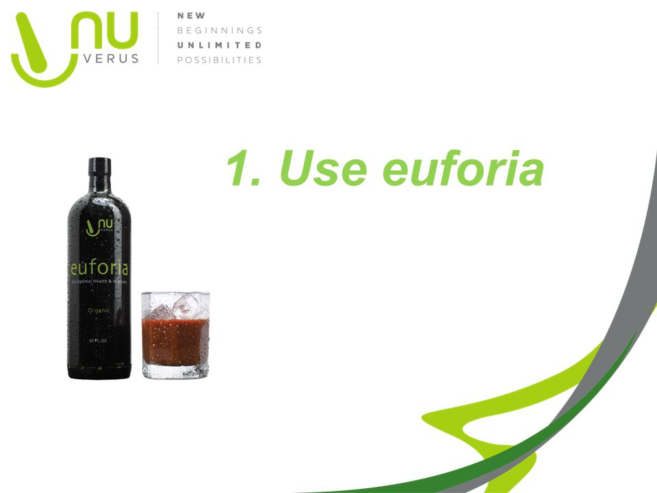 1. Use euforia Picture with glass