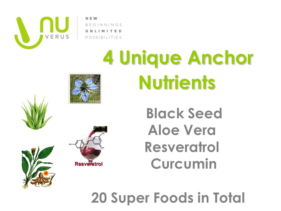 4 Unique Anchor Nutrients