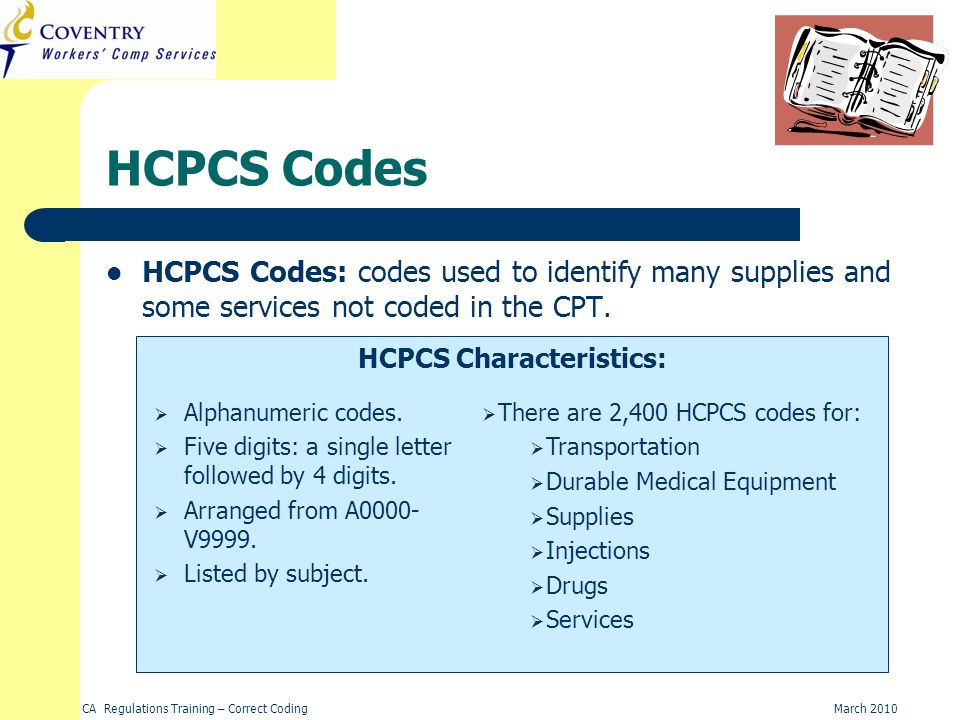 HCPCS Characteristics: