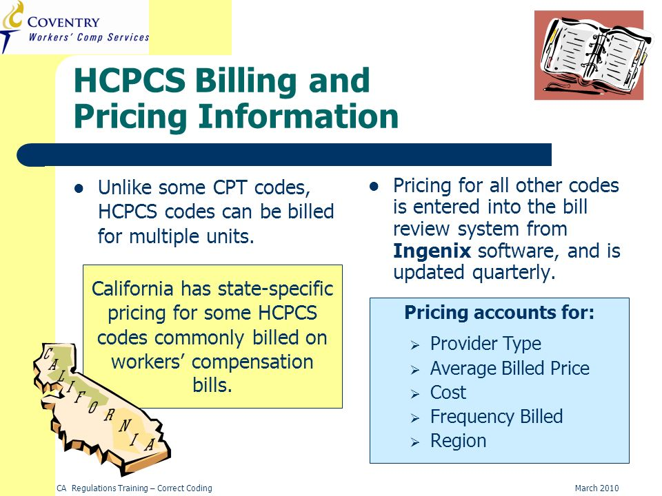 HCPCS Billing and Pricing Information