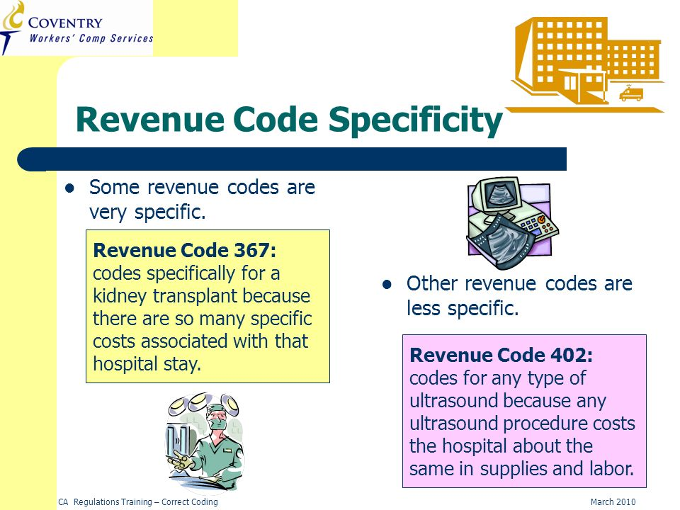 Revenue Code Specificity