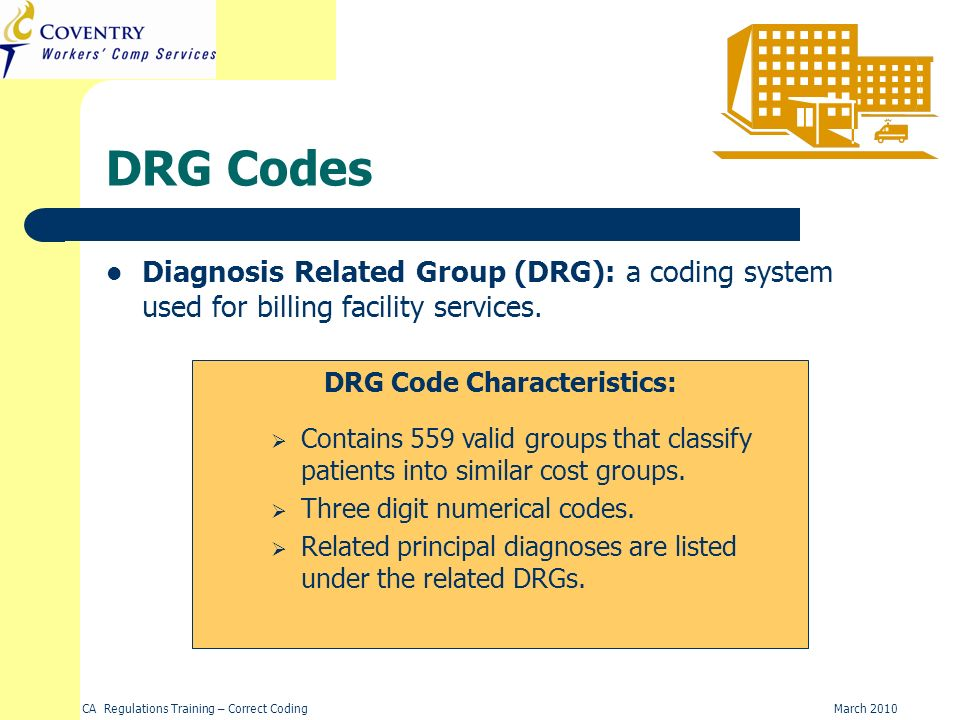 DRG Code Characteristics: