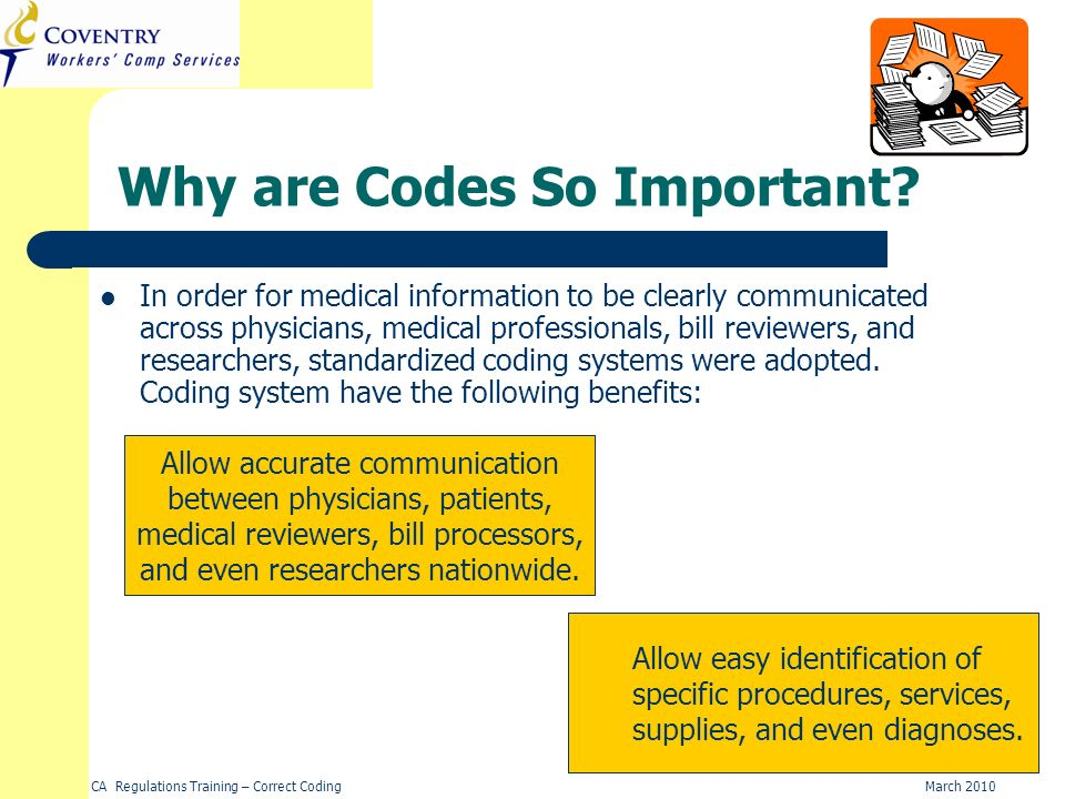 Why are Codes So Important