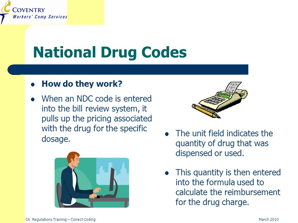 National Drug Codes How do they work
