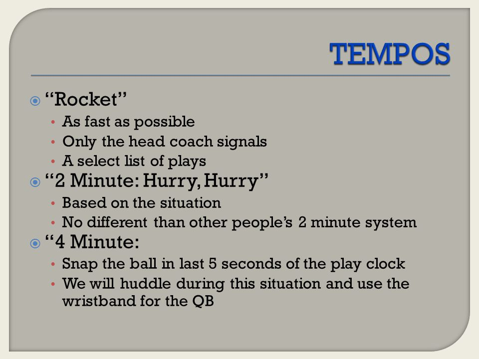 TEMPOS Rocket 2 Minute: Hurry, Hurry 4 Minute: