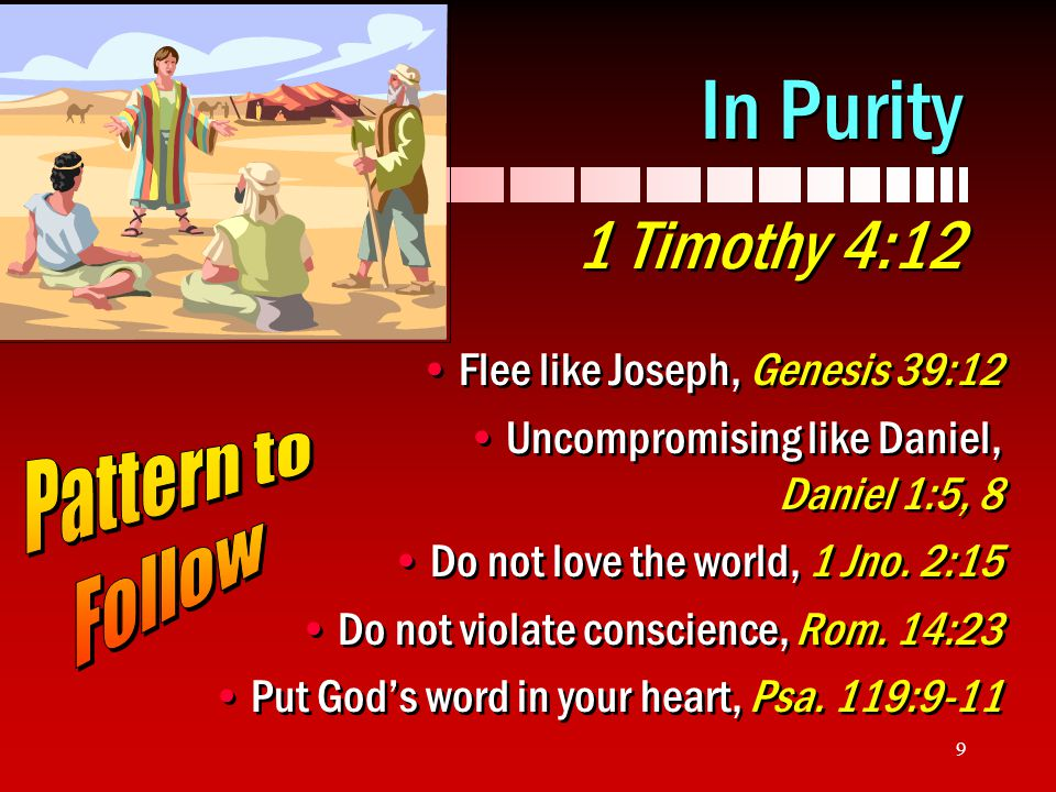 In Purity 1 Timothy 4:12 Pattern to Follow