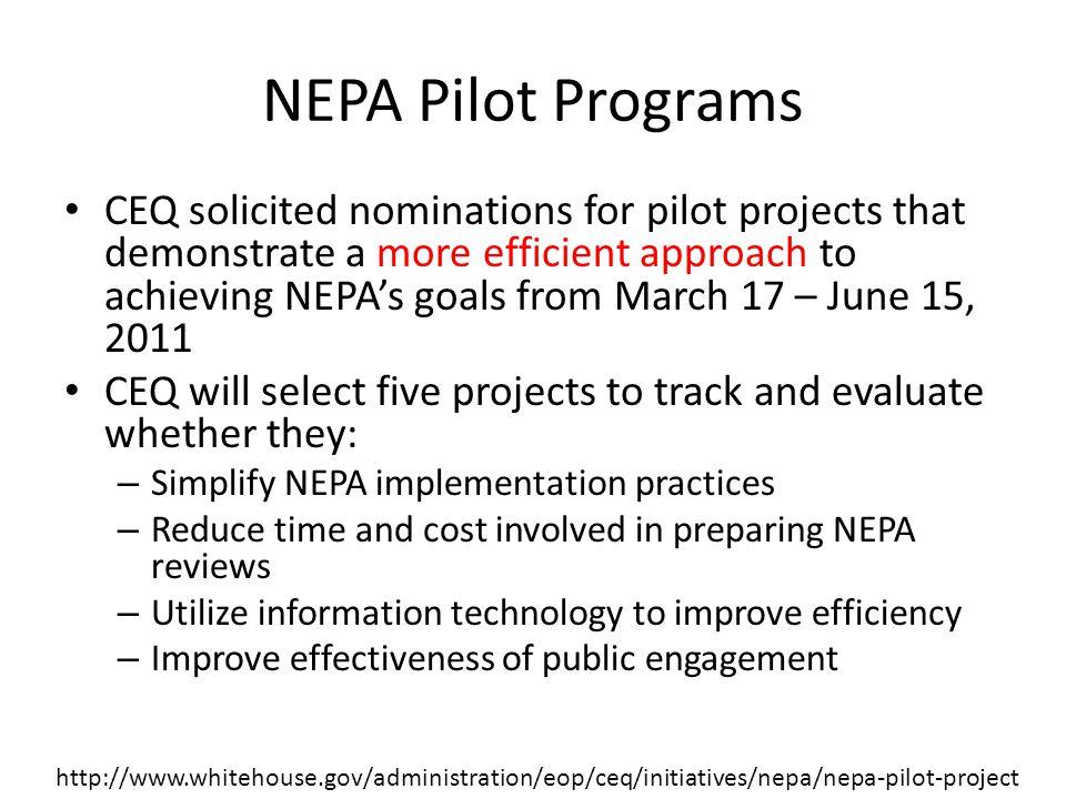 NEPA Pilot Programs