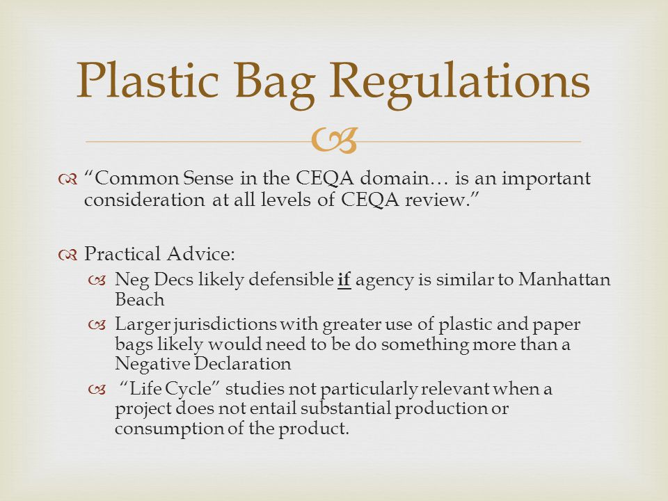 Plastic Bag Regulations