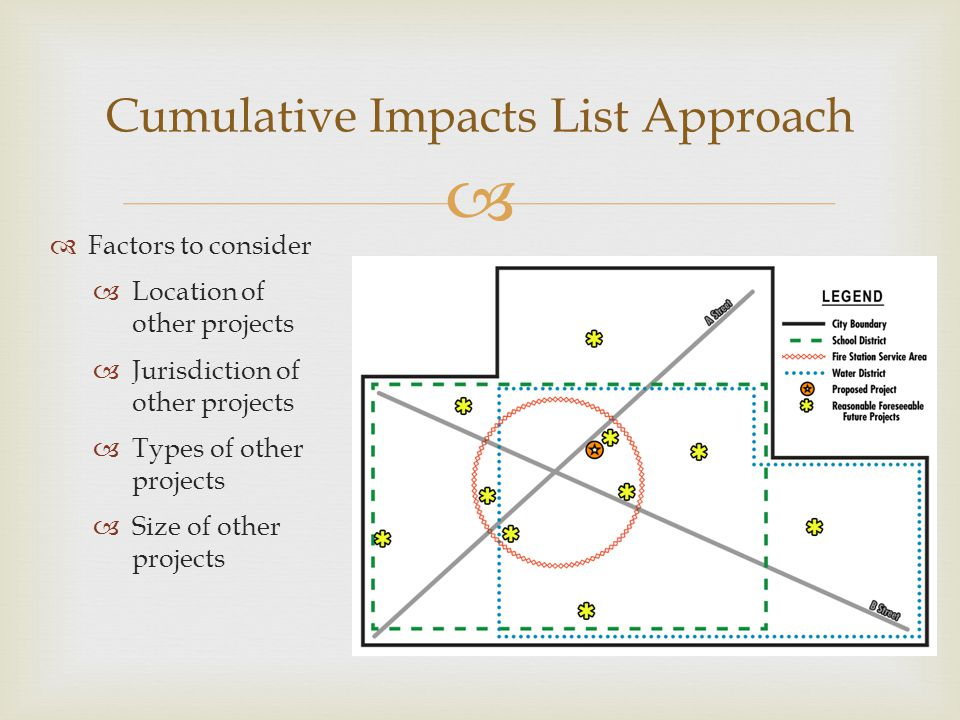Cumulative Impacts List Approach
