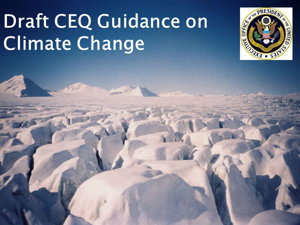 Draft CEQ Guidance on Climate Change