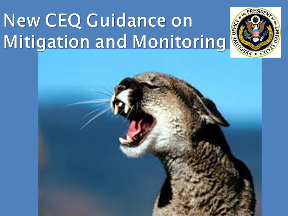 New CEQ Guidance on Mitigation and Monitoring