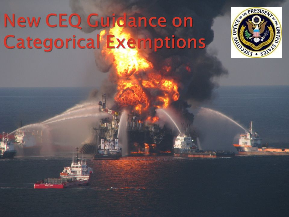 New CEQ Guidance on Categorical Exemptions