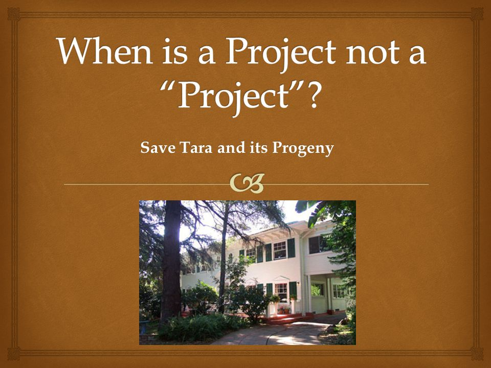 When is a Project not a Project