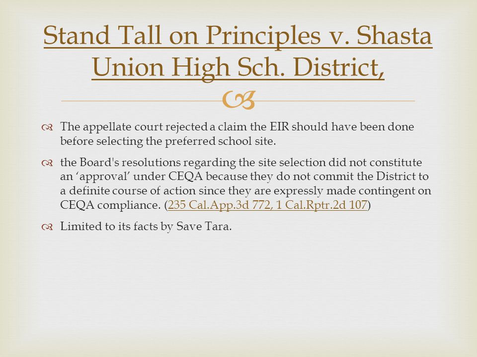 Stand Tall on Principles v. Shasta Union High Sch. District,