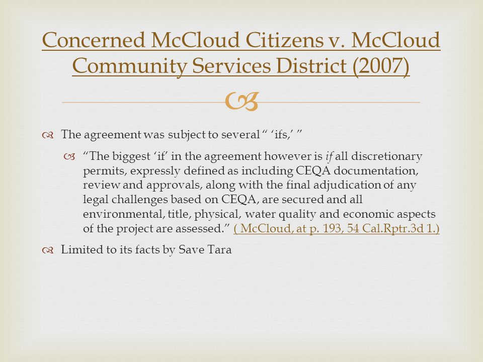 Concerned McCloud Citizens v