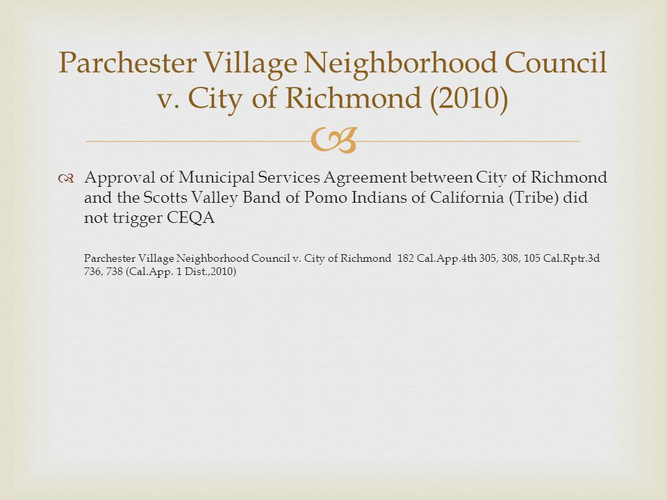 Parchester Village Neighborhood Council v. City of Richmond (2010)