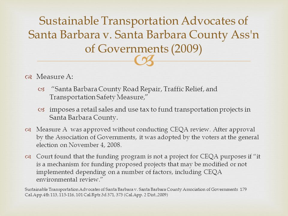 Sustainable Transportation Advocates of Santa Barbara v