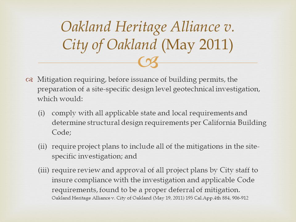 Oakland Heritage Alliance v. City of Oakland (May 2011)