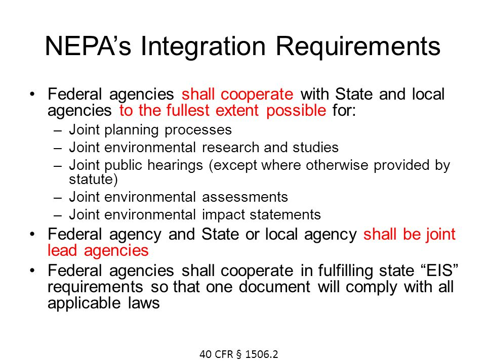 NEPA's Integration Requirements
