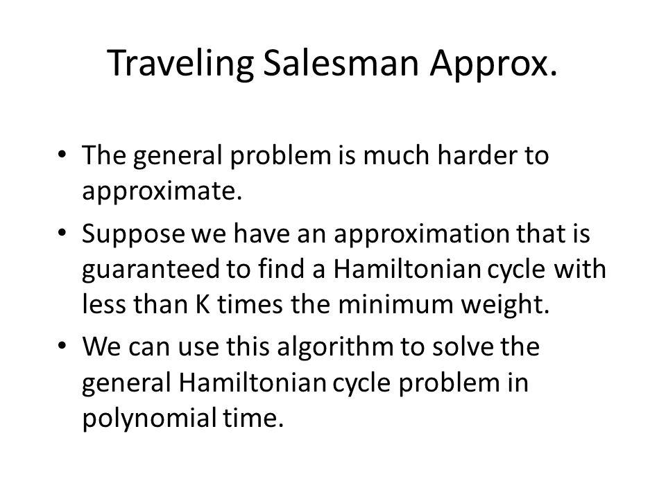 Traveling Salesman Approx.