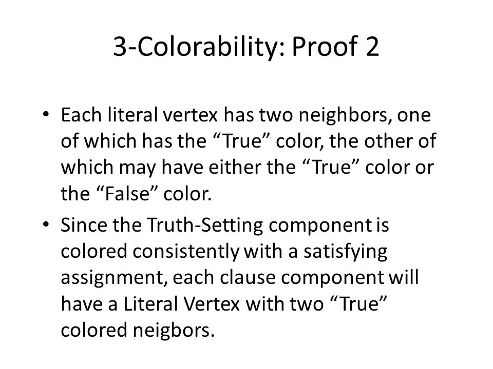 3-Colorability: Proof 2