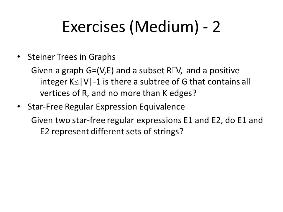 Exercises (Medium) - 2 Steiner Trees in Graphs