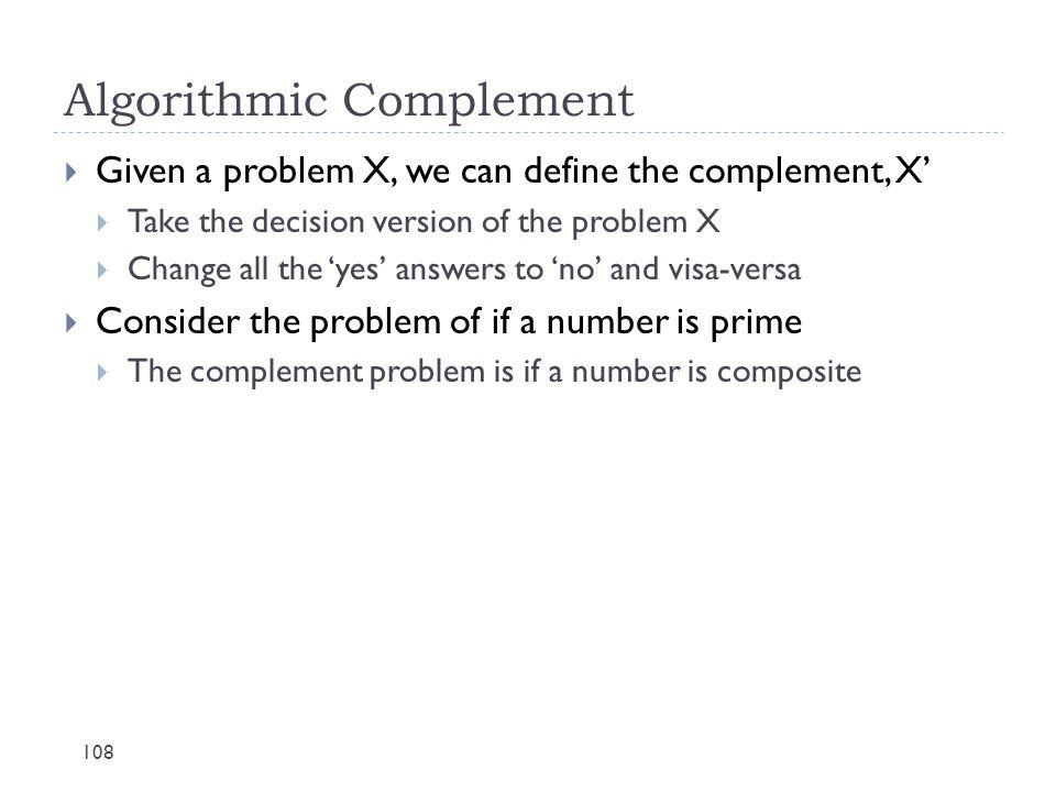 Algorithmic Complement
