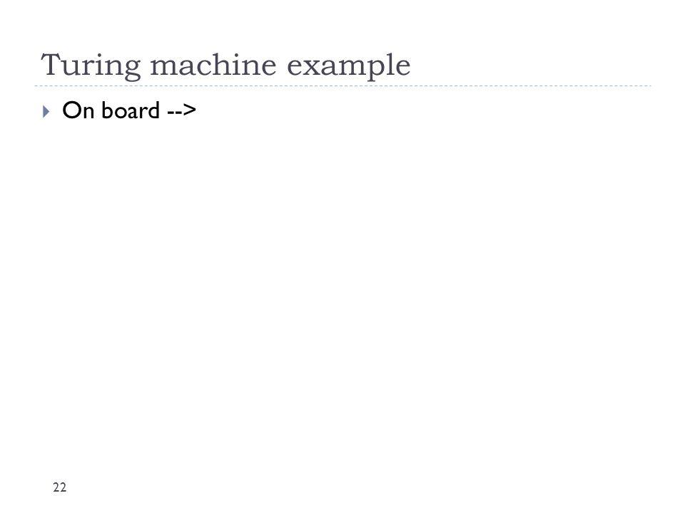 Turing machine example
