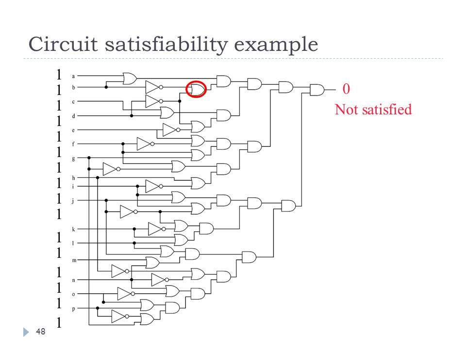 Circuit satisfiability example