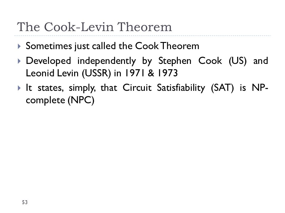 The Cook-Levin Theorem