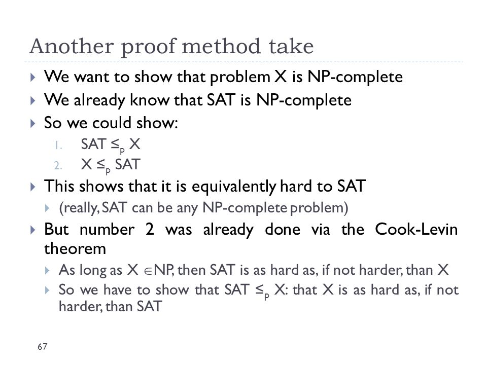 Another proof method take