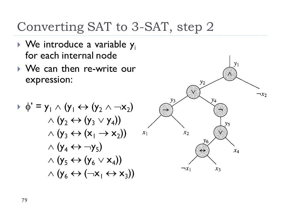 Converting SAT to 3-SAT, step 2