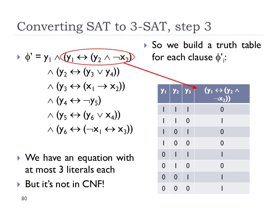 Converting SAT to 3-SAT, step 3